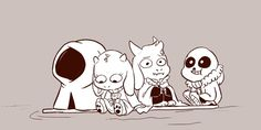 Little Asgore,Toriel and Sans (1)