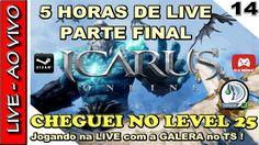 RIDERS OF ICARUS GAMEPLAY - LIVE de 5 HORAS CHEGANDO AO LEVEL 25 no open...