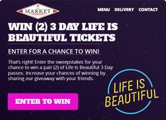 LIFE IS BEAUTIFUL GIVEAWAY -- enter to win!