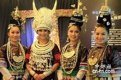 These are Miao ethnic's dress.By the way,I'am also this ethnic.