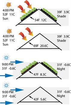 Viver Telhados Verdes! Verde Urbano e Permacultura: Telhados Verdes - a lenta absorção e liberação Dissipadores de calor