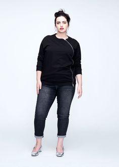 Meridian Zip Pullover - Black – Universal Standard