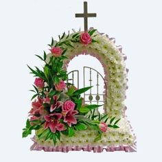 Funeral Floral Arrangements, Flower Arrangements, Casket Sprays, Funeral Flowers, Flower Basket, Ikebana, Special Occasion, Floral Design, Projects To Try