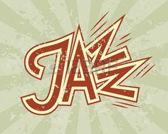 Vector Jazz flyer on grunge background