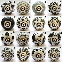 Round Talavera Design Ceramic Knobs Pulls Kitchen Drawer Cabinet ...