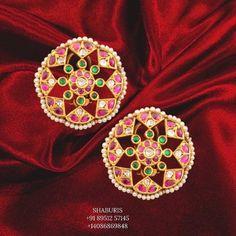 Stone Jewelry, Diamond Jewelry, Diamond Earrings, Silver Jewelry, Antique Jewelry, Indian Gold Jewellery Design, Indian Jewelry, Jewelry Design, Baby Jewelry