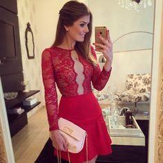 trend alert looks Dress Skirt, Bodycon Dress, Dress Red, Moda Formal, Short Dresses, Summer Dresses, Evening Outfits, Classy Casual, Look Fashion