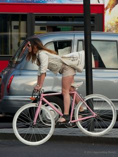 Love the ankle-strap wedges with the shorts. http://bicycle-babe.tumblr.com/