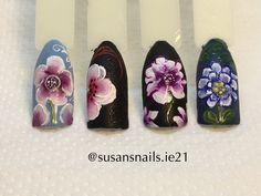 Nail art - one stroke flowers