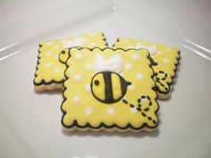 Bumble Bee sugar cookies by StephanieJscreations on Etsy, $30.00