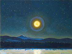 Moonlight in the Adirondacks. Rockwell Kent