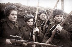 Women played an incredibly significant role in the Soviet war effort during WWII. Initially, in the thousands of women who volunteered to enlist were turned away or. Rifles, Nazi Propaganda, Ww2 Women, Ww2 Photos, Female Soldier, Red Army, Panzer, Military History, World War Ii
