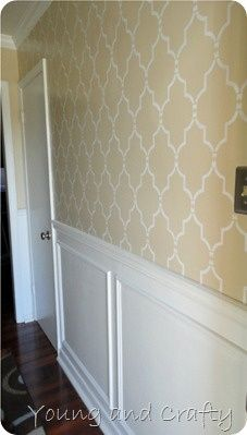Molding Wall Stencil Patterns Moulding Ideas Trim