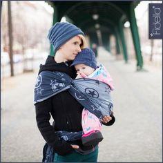 Fidella babywrap -Outer Space -blue- #babywearing