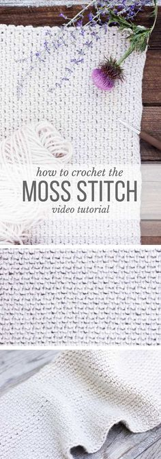 Learn how to crochet the moss stitch with this beginner-friendly video lesson. Perhaps you know the moss stitch by the name the linen stitch, the woven stitch or the granite stitch--either way, it's beautiful and easy to master!