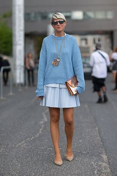 A great look by stylist elisa nalin at fashion week. #musestyle