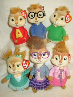 Alvin and The Chipmunks Set of 6