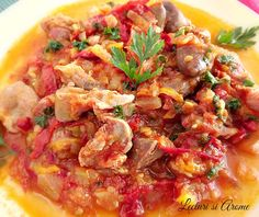Romanian Food, Thai Red Curry, Side Dishes, Good Food, Meat, Chicken, Cooking, Ethnic Recipes, Kitchen