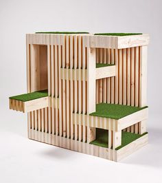 Architecture for Animals cat house by RNL | Architects design cat shelters for animal charity fundraiser