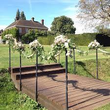micklefield hall - Google Search Garden Bridge, Wedding Venues, Deck, Outdoor Structures, Outdoor Decor, Plants, Weddings, Google Search, Wedding Reception Venues