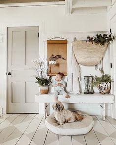 Liz Marie Blog (@lizmariegalvan) • Instagram photos and videos White Paint Colors, White Paints, Metal Bathroom Shelf, Farmhouse Paint Colors, White Cottage, Painted Floors, Home Decor Furniture, Industrial Furniture, Wood And Metal