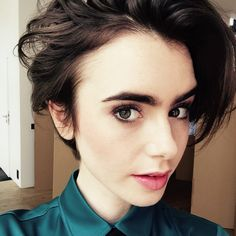 Who couldn't #love those strong #brows. #lilycollins