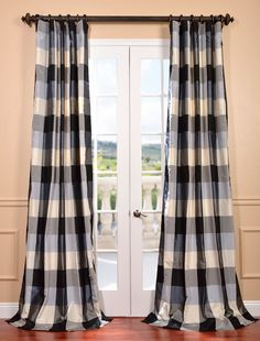 Oxford Silk Plaid Curtain - SKU: DS-CHX14 at https://halfpricedrapes.com