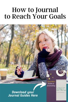 Not all journals are designed to capture memories or work through emotions. Some journals are designed for practical applications. Journals that track progress or growth are an excellent way to support you toward goals. Learn more about how to journal toward your goals and download your journal guides to get the most out of your journaling here by clicking on this pin.