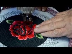 Creating A Rose With Free Motion Embroidery Using A Vintage Treadle Sewing Machine - YouTube