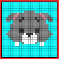 Tramp tsum tsum perler hama bead pattern crochet c2c graphghan