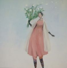 """SOLD """"Stormy Treasures"""" by Kristin Vestgard, oil on canvas 70 x Fine Arts Degree, Whimsical Art, Figure Painting, Artist At Work, Lovers Art, Female Art, Graphic Illustration, Decoration, Poppies"""