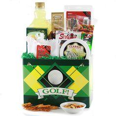 Back 9 Golf Gift Basket Classic Golf, Golf Gifts, Gift Baskets, Hero, Sympathy Gift Baskets, Vintage Golf, Food Gift Baskets, Gift Basket