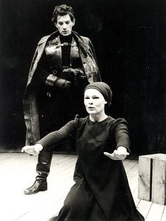 Judi Dench and Ian Mckellen in a 1978 production of Macbeth. He's so young!!