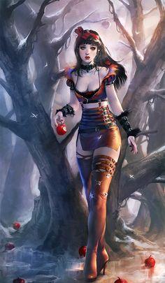 Imagen de snow white, fantasy, and disney Dark Fantasy Art, Fantasy Girl, Fantasy Kunst, Disney Fantasy, Dark Disney, Disney Kunst, Disney Art, Girl Cartoon, Cartoon Art