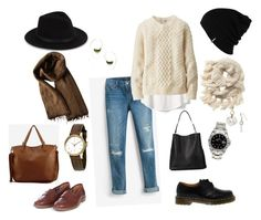 """""""Day off"""" by cgraham1 on Polyvore featuring White House Black Market, Gap, Uniqlo, Barbour, Dr. Martens, Athleta, Dries Van Noten, Maurice Lacroix, Rolex and AllSaints"""