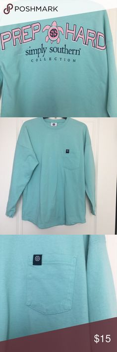 474679ee5243 Simply Southern Long Sleeve Size Small Simply Southern Shirt with cute  front pocket. It s a