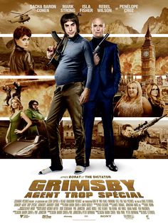 New red band trailer and posters for the comedy THE BROTHERS GRIMSBY starring Sacha Baron Cohen, Mark Strong, Penelope Cruz, Rebel Wilson, Isla Fisher and Gabourey Sidibe. Sacha Baron Cohen, Mark Strong, Movies 2019, Top Movies, Movies To Watch, Movies And Tv Shows, 2016 Movies, Isla Fisher, Streaming Hd