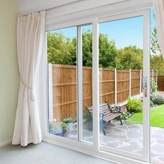 uPVC Patio Doors from Senator are an elegant and efficient way to secure your home while keeping cosy in winter and also allowing you to enjoy the summer. Upvc Sliding Doors, Upvc Patio Doors, Kitchen Patio Doors, Interior Sliding French Doors, Sliding Door Curtains, Patio Door Curtains, Balcony Doors, Aluminium French Doors, Aluminium Sliding Doors
