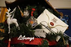 The tree is the work of Kathryn Burnett, 29, from the northern English town of Seaham. | People Are Loving This Incredible Harry Potter-Themed Christmas Tree