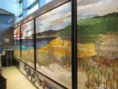 Grand Prize winner of Art prize 2013 A quilted scene on Lake Mi.    By Ann Loveless
