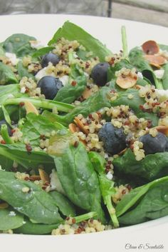 Blueberry quinoa salad - healthy and delicious!