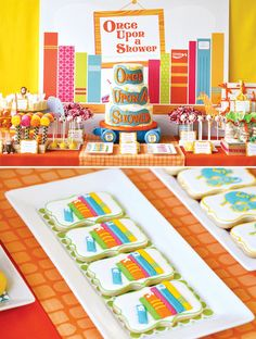 """Once Upon A Shower""- Baby shower dessert ideas for a children's book theme"