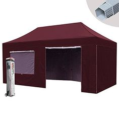 Eurmax Premium 10 X 20 Pop Up Gazebo Canopy Party Tent with Sidewalls,Color|Burgundy ** Read more reviews of the product by visiting the link on the image.