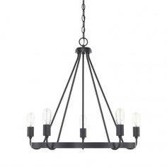 Capital Lighting 425181MB Rylann Chandelier 8 Light Matte