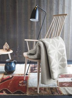 Roros Tweed - Chic thick wool blankets and pillows from Norway. Hopefully they will sell in Canada soon! Scandinavian Interior Design, Minimal Design, Tweed, Bean Bag Chair, Cool Designs, Cushions, Pillows, Frost, Plaid