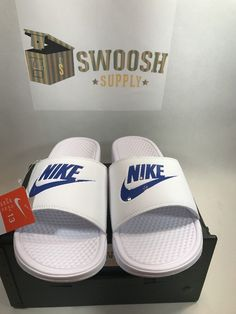 check out d31a2 e477c Nike Benassi JDI sz 13 Slide Sandal Flip Flops 343880-102 Slides Sandals  Slipper Nike Slides
