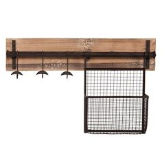 Entryway 3-hook Wall Mount Coat Rack In Brown
