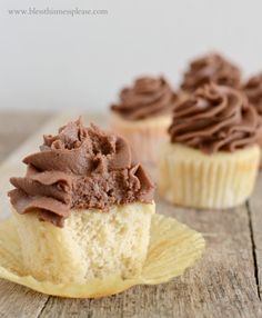 Perfect vanilla cupcakes recipe with chocolate icing a must have combo!