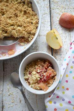 Winter Warming Apple & Raspberry Crisp http://www.juliascuisine.com/home/apple-raspberry-crisp