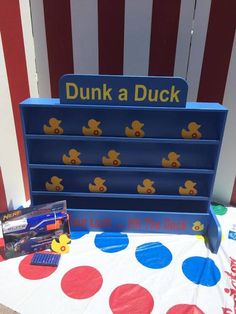 Duck Shooting Gallery Target Gallery Dunk a Duck Game Lawn Game Carnival Games Backyard Game Carnival booth Game Birthday Party Games Backyard Carnival, Diy Carnival, Carnival Themes, Backyard Games, Party Themes, Circus Theme, Party Ideas, School Carnival Games, Carnival Booths